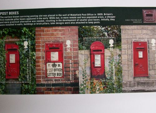 Post box stamps