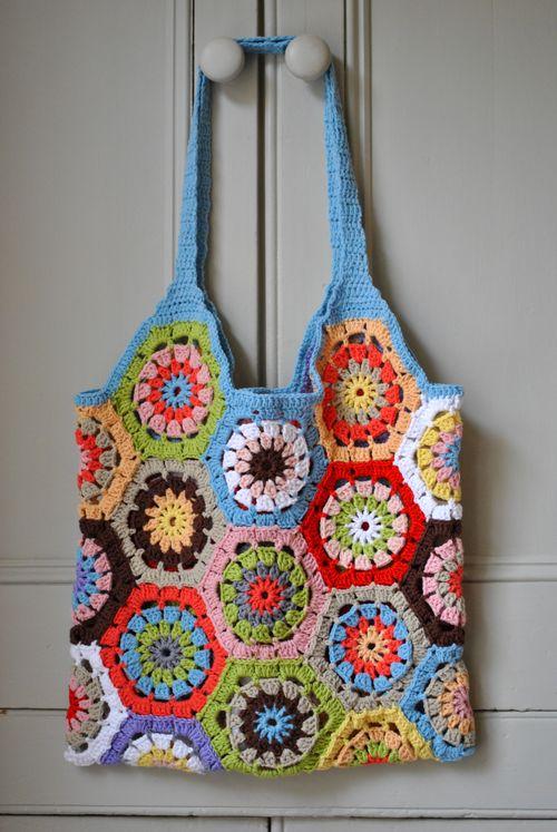 crochet hex bag