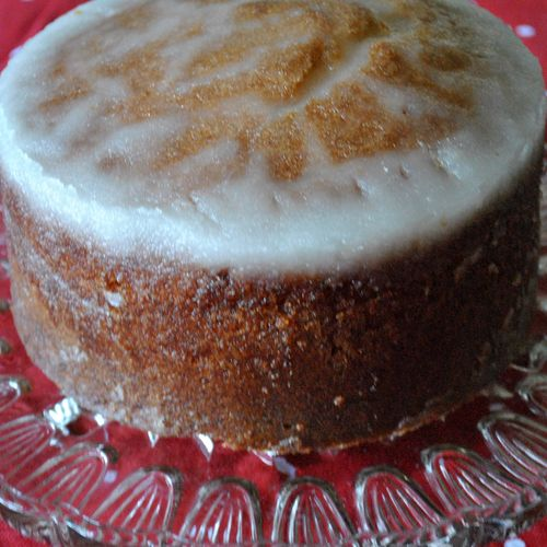 madeira with lemon crunch topping