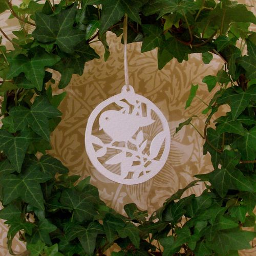 bird papercut bauble