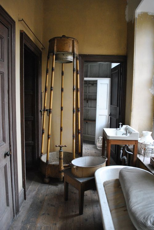 Bathroom with portable shower, need someone to pump the water for you!!