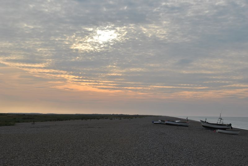 boats on Cley beach