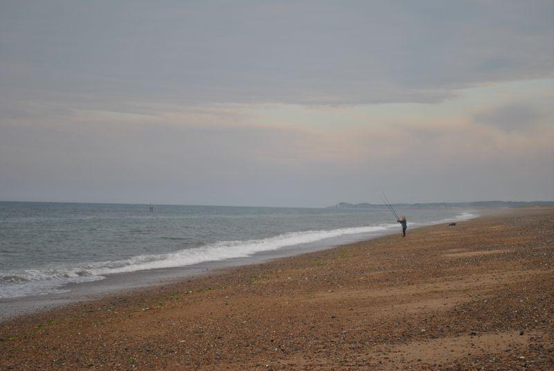 woman sea fishing