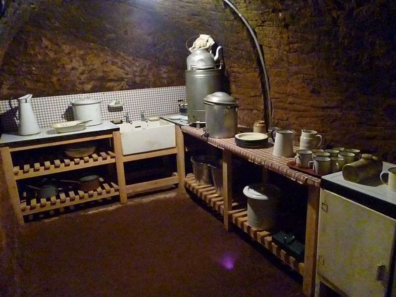 Kitchen area in side tunnel
