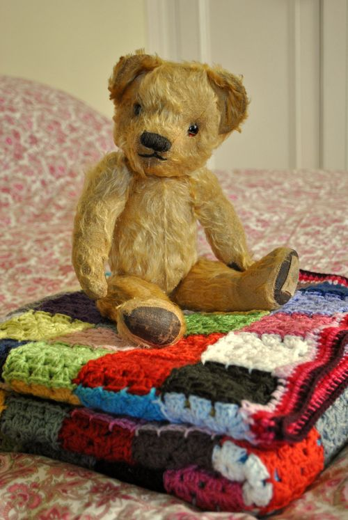Chad Valley ted on blanket