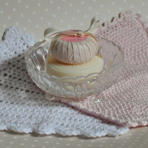 soap dish from glass dish, handmade gifts