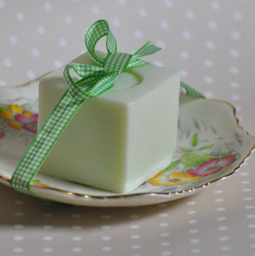 soap dish from vintage saucer