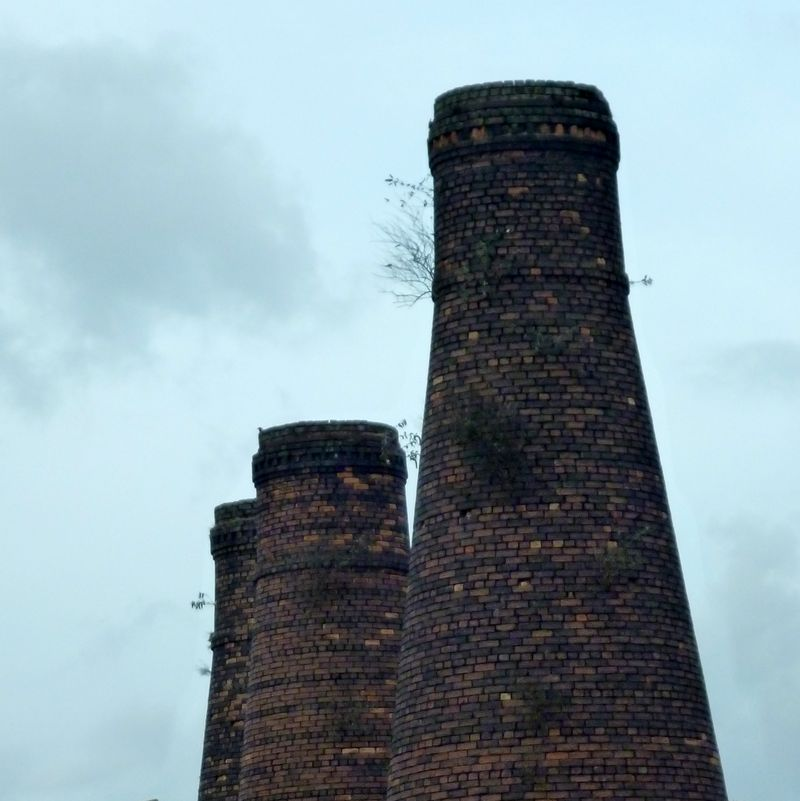 Down draught bottle kilns, Burslem