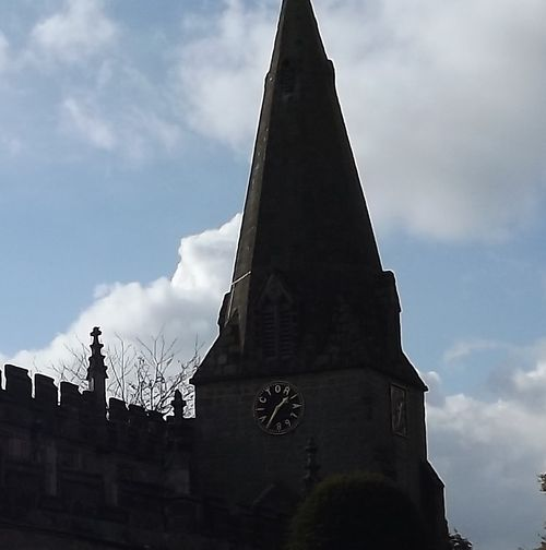 St Anne, Baslow Diamond jubilee clock