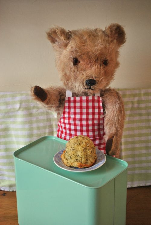 Teddy's cake comes out well